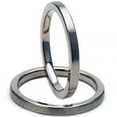 *COI Titanium Pipe Cut Flat 3mm Wedding Band Ring-JT964
