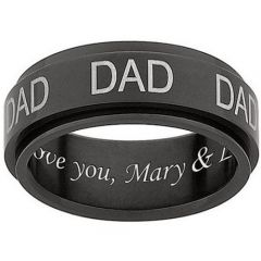 COI Tungsten Carbide Daddy Ring With Custom Engraving-TG1062