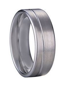 COI Tungsten Carbide Offset Groove Ring - TG1126