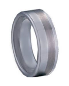 COI Tungsten Carbide Offset Line Pipe Cut Flat Ring - TG1133