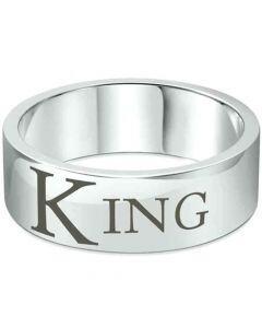 COI Tungsten Carbide Pipe Cut Flat King Ring-TG1636CC
