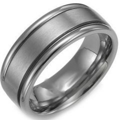 COI Tungsten Carbide Double Grooves Ring - TG1927