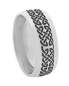 COI Tungsten Carbide Celtic Dome Court Ring - TG2366