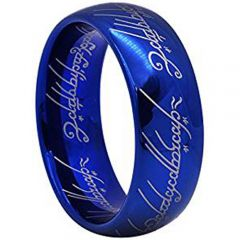 COI Blue Tungsten Carbide Lord of the Ring Ring - TG2469