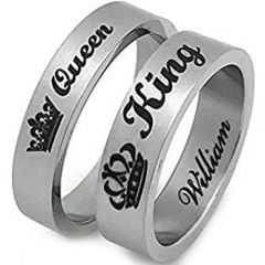 *COI Tungsten Carbide King Queen Crown Ring - TG2856AA