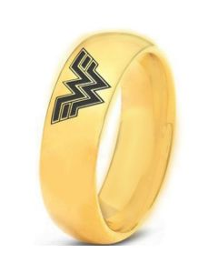 COI Gold Tone Tungsten Carbide Wonder Woman Ring-TG3346