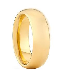 *COI Gold Tone Titanium Dome Court Ring - JT4048