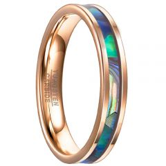 COI Rose Tungsten Carbide Ring With Abalone Shell-TG3525