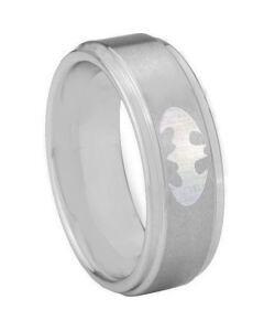 **COI Tungsten Carbide Batman Step Edges Ring - TG3890AA
