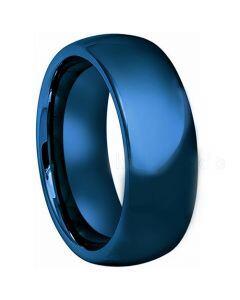 COI Blue Tungsten Carbide Dome Court Ring - TG4420