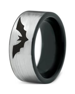 *COI Tungsten Carbide Bat Pipe Cut Flat Ring - TG4525C