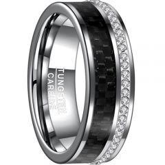 COI Tungsten Carbide Carbon Fiber & Zirconia Ring-TG4540