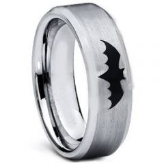 COI Tungsten Carbide Batman Beveled Edges Ring-TG5001