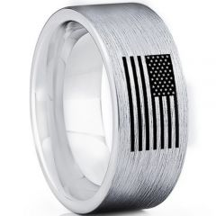 COI Tungsten Carbide Ring With American Flag-TG5025