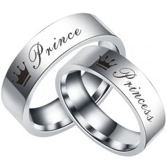 *COI Tungsten Carbide Prince Princess Crown Ring-TG5055