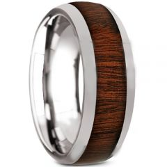 COI Tungsten Carbide Wood Dome Court Ring-TG5119