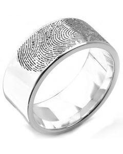 COI Tungsten Carbide Ring With Custom Fingerprint-TG5132