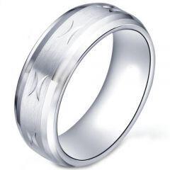 COI Tungsten Carbide Wedding Band Ring-TG5178