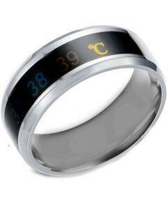 COI Titanium Gold Tone/Black/Blue/Rose/Silver Temperature Sensor Beveled Edges Ring-5425