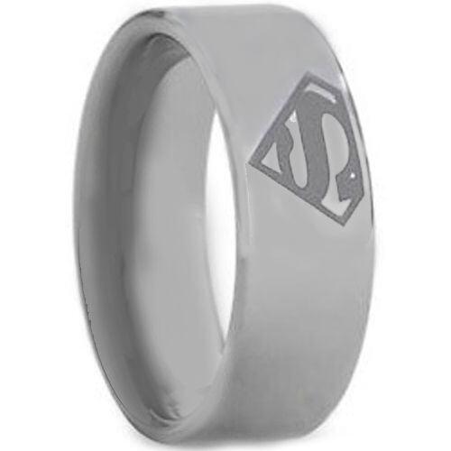 **COI Tungsten Carbide Superman Pipe Cut Flat Ring - TG1458