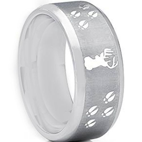 COI Tungsten Carbide Deer Head & Track Ring - TG2445AA