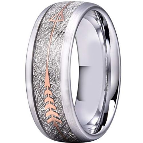 COI Titanium Meteorite Dome Court Ring With Arrows - 2935