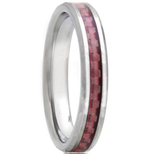 COI Titanium Pipe Cut Flat Ring With Carbon Fiber - JT1462AA