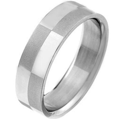 COI Tungsten Carbide Checkered Flag Flat Ring - TG2969