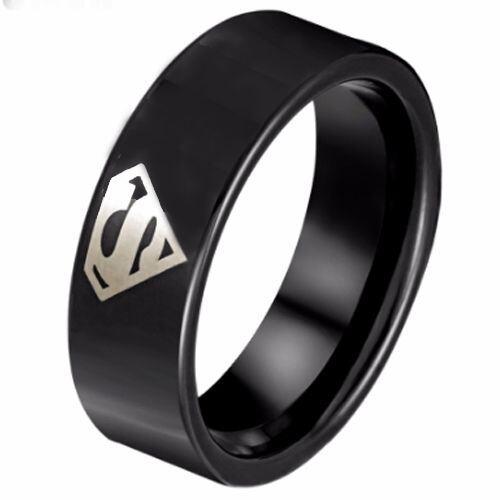 *COI Black Tungsten Carbide Superman Ring - TG798AA