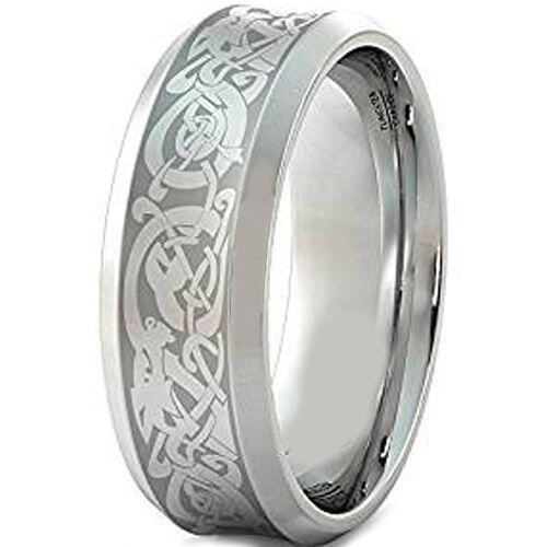 COI Titanium Dragon Concave Ring - JT3661
