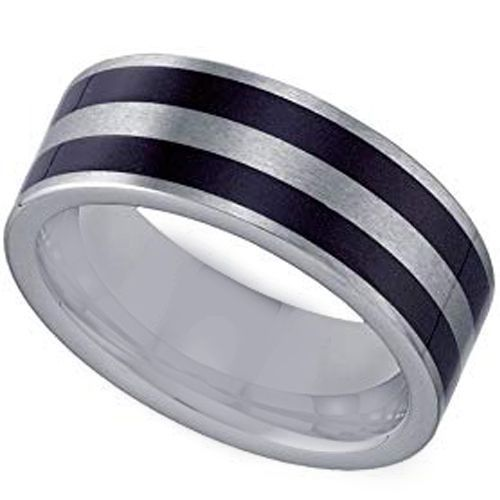 COI Tungsten Carbide Double Resin Pipe Cut Flat Ring-4348