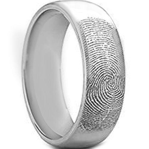 COI Tungsten Carbide Custom FingerPrint Ring-TG5130