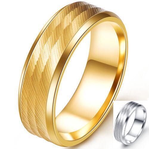 COI Titanium Gold Tone/Silver Ring-5255