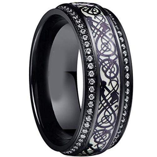 COI Black Titanium Dragon Cubic Zirconia Ring-JT5046