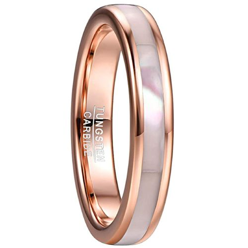 COI Rose Tungsten Carbide Abalone Shell Ring-TG5072