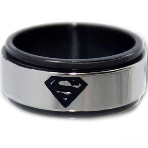 *COI Tungsten Carbide Black Silver Batman Ring - TG2966