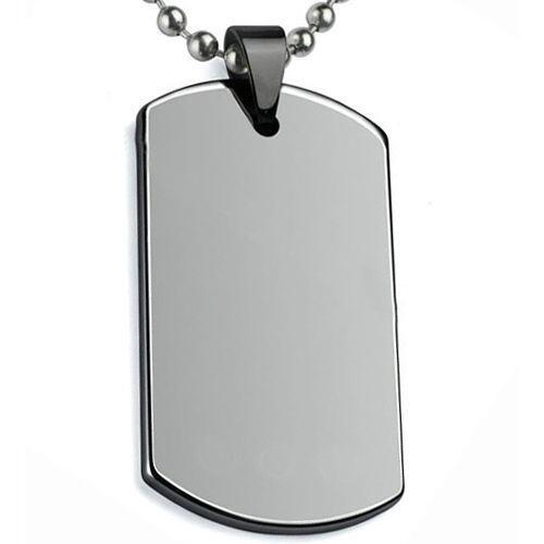 COI Tungsten Carbide Dog Tag Pendant-TG5067