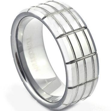 *COI Titanium Tire Tread Beveled Edges Ring - JT1304A