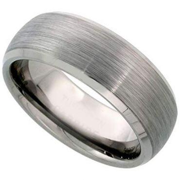 *COI Titanium Beveled Edges Wedding Band Ring - JT2370AA