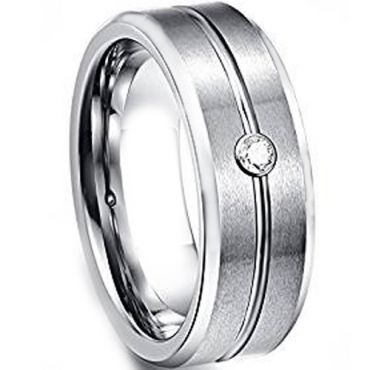 COI Tungsten Carbide Cubic Zirconia Ring - TG1449BBB