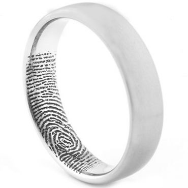 COI Tungsten Carbide Custom FingerPrint Ring - TG1531AA