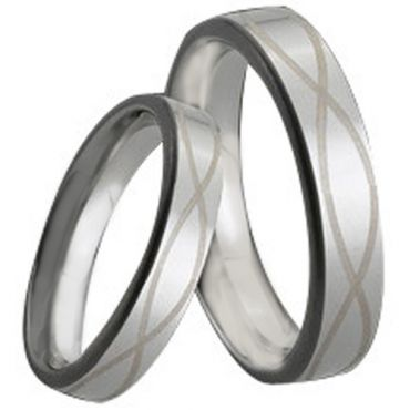 COI Tungsten Carbide Infinity Pipe Cut Flat Ring - TG161