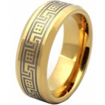 COI Gold Tone Tungsten Carbide Celtic Ring - TG2828AA