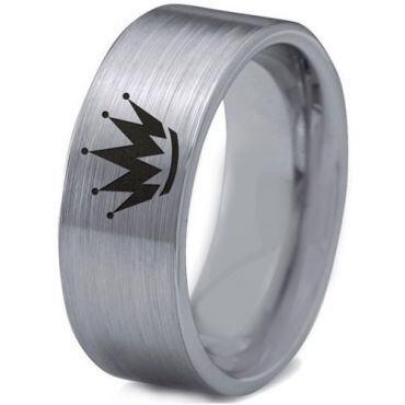 *COI Tungsten Carbide King Crown Pipe Cut Flat Ring-TG2205RRR