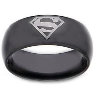 *COI Black Titanium Superman Dome Court Ring - JT1713AA
