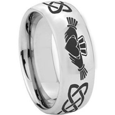 COI Tungsten Carbide Mo Anam Cara Celic Dome Court Ring-2346