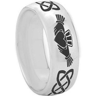 **COI Tungsten Carbide Mo Anam Cara Celtic Dome Court Ring-2346