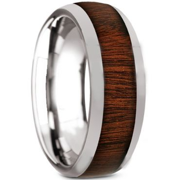 COI Titanium Dome Court Ring With Wood - JT2384