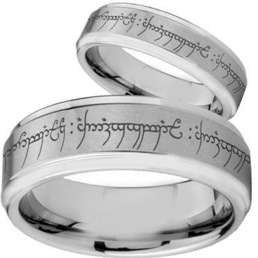 COI Tungsten Carbide Lord of The Ring Ring-TG2475BB