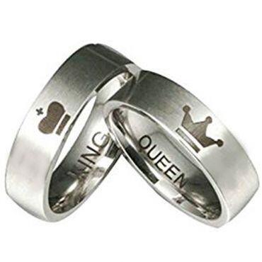 *COI Tungsten Carbide King Queen Crown Ring - TG2571AA
